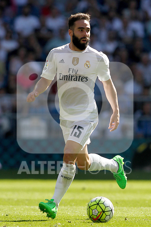 Real Madrid's Daniel Carvajal during La Liga match. September 19,2015. (ALTERPHOTOS/Acero)