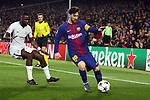 UEFA Champions League 2017/2018.<br /> Round of 16 2nd leg.<br /> FC Barcelona vs Chelsea FC: 3-0.<br /> Antonio Rudiger vs Lionel Messi.