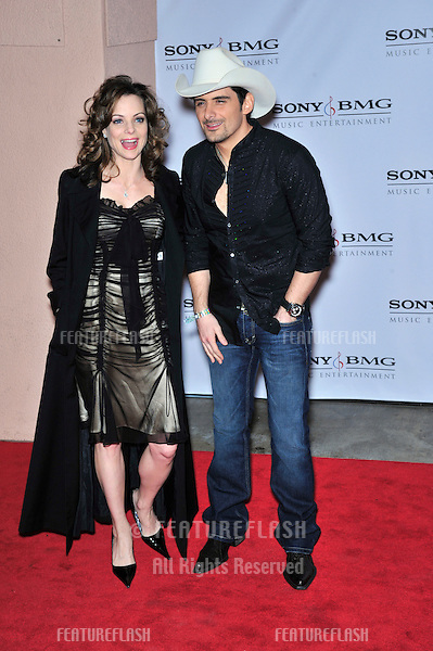 Brad Paisley & Kimberly Williams at the Sony BMG Music Entertainment party at the Beverly Hills Hotel following the 2008 Grammy Awards..February 10, 2008  Los Angeles, CA.Picture: Paul Smith / Featureflash