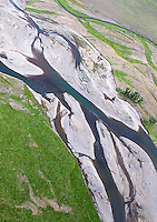 Yellowstone's Lamar River, photographed during an aerial shoot of the park.