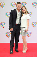 Matthew Wright and wife Amelia arriving for the Health Lottery Tea Party, The Savoy, London. 02/06/2014 Picture by: Alexandra Glen / Featureflash