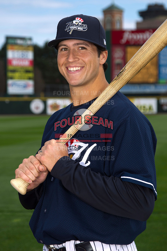 Scranton Wilkes-Barre Yankees outfielder Ray Kruml #51 poses for a photo during media day at Frontier Field on April 3, 2012 in Rochester, New York.  (Mike Janes/Four Seam Images)