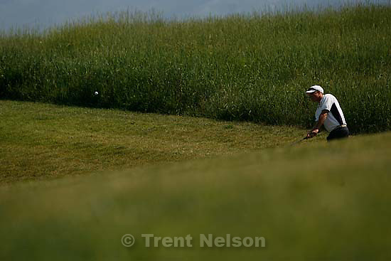 Soldier Hollow - Devin Daniels at the Utah State Amateur Golf Tournament at Soldier Hollow Saturday, July 12.