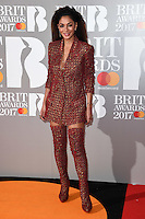 Nicole Scherzinger<br /> arrives for the BRIT Awards 2017 held at the O2 Arena, Greenwich, London.<br /> <br /> <br /> &copy;Ash Knotek  D3233  22/02/2017