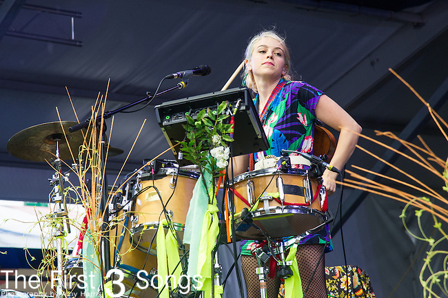 Tiffany Lamson of GIVERS performs during the 2015 New Orleans Jazz & Heritage Festival in New Orleans, Louisiana.