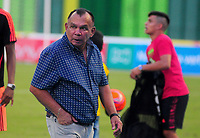 BARRANCABERMEJA -COLOMBIA, 16-04-2017:  Jorge Luis Bernal técnico de Alianza Petrolera gesticula durante el encuentro con Atlético Huila  fecha 13 de la Liga Aguila I 2017 disputado en el estadio Daniel Villa Zapata de la ciudad de Barrancabermeja./ Jorge Luis Bernal  coach of Alianza Petrolera gestures during a match against Atletico Huila  for the date 13 of the Aguila League I 2017 played at Daniel Villa Zapata stadium in Barrancebermeja city. Photo: VizzorImage / Jose Martinez / Cont