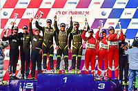 #11 CAR GUY (JPN) FERRARI 488 GT3 GT TAKESHI KIMURA (JPN) KEI COZZOLINO (JPN) JAMES CALADO (GBR) WINNER GT<br /> #88 TIANSHI RACING TEAM (CHN) AUDI R8 LMS GT ANTHONY ALEX AU (HGK) CHEN WEI AN (CHN) JEAN KARL VERNAY (FRA) SECOND GT<br /> #51 SPIRIT OF RACE (SUI) FERRARI 488 GT3 GT ALESSANDRO PIER GUIDI (ITA) OSWALDO NEGRI JR (USA) FRANCESCO PIOVANETTI (USA) THIRD GT