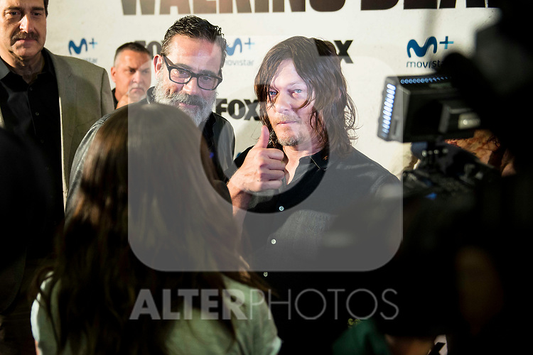 "Jeffrey Dean Morgan and Norman Reedus attends to an event with fans of ""The Walking Dead"" at Cines Capitol in Madrid. March 09, 2017. (ALTERPHOTOS/Borja B.Hojas)"