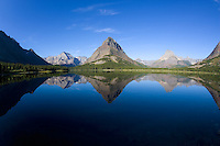 Sunrise at Swiftcurrent Lake, Many Glaciers, Montana