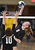 Grace Riddle #6 of Wantagh goes up for a spike attempt during her team's 3-2 victory over Kings Park in the girls volleyball Class A Long Island Championship at Farmingdale State College on Sunday, Nov. 11, 2018. The Warriors rallied from an 0-2 set deficit to win.