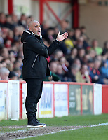 Accrington Stanley manager John Coleman <br /> during the Sky Bet League 2 match between Accrington Stanley and Grimsby Town at the Fraser Eagle Stadium, Accrington, England on 25 March 2017. Photo by Tony  KIPAX / PRiME Media Images.