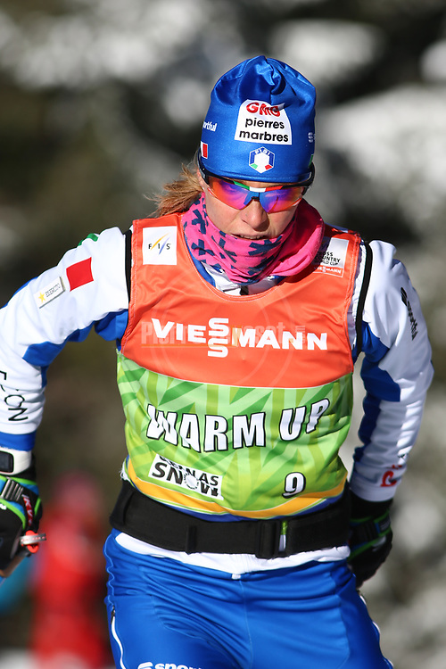 Cross Country Ski World Cup 2018 FIS in Dobbiaco, Toblach, on December 16, 2017; Ladies 10 Km Interval Start Free technique ; Elisa Brocard (ITA)<br /> &copy; Pierre Teyssot