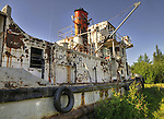 This NTCL tug sits rusting in Hay River's Old Town.