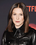 WESTWOOD, CA - OCTOBER 26: Actress Millie Bobby Brown arrives at the Premiere Of Netflix's 'Stranger Things' Season 2 at Regency Westwood Village Theatre on October 26, 2017 in Los Angeles, California.