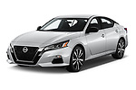 2019 Nissan Altima SR-FWD 4 Door Sedan Angular Front stock photos of front three quarter view