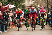 25th March 2018, Barcelona, Spain; Volta a Catalunya 2018 Cycling, Stage 7; Jhonatan Restrepo of TEAM Katusha Alpecin leading the peloton during the stage 7 of la Volta Catalunya