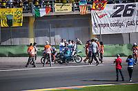 VALENCIA, SPAIN - NOVEMBER 8: Danny Kent, Moto3 World Champion 2015 during Valencia MotoGP 2015 at Ricardo Tormo Circuit on November 8, 2015 in Valencia, Spain