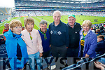 Margaret Cotter, Eileen Barry, John Barry, Michael McCarron, Thomas O'Connell and Mary O'Connell, pictured at the Kerry v Mayo all Ireland semi-final in Croke Park, on Sunday last.