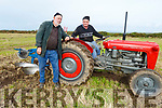 James Collins (Ardfert) and Mike Brosnan (Castleisland) at the ploughing in Causeway on Sunday.