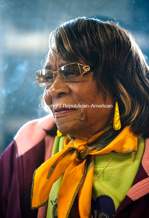 WATERBURY, CT-110314JS11-  Edith Arline of Waterbury, was among the people who were applying for heating assistance for the winter season Monday at New Opportunities in Waterbury. <br /> Jim Shannon Republican-American