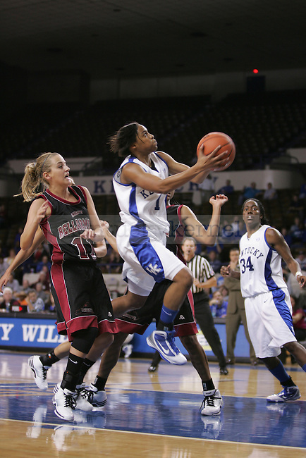 UK guard A'dia Mathies goes for the layup against Bellarmine University at Memorial Coliseum on Monday, Nov. 9, 2009. Photo by Scott Hannigan | Staff