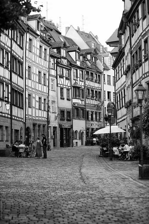 Cobble street, Nürnberg, Germany