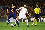UEFA Champions League 2017/2018.<br /> Quarter-finals 1st leg.<br /> FC Barcelona vs AS Roma: 4-1.<br /> Ivan Rakitic vs Daniele De Rossi.