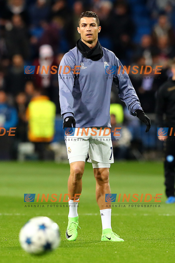 Cristiano Ronaldo Real Madrid <br /> Madrid 15-02-2017 Stadio Santiago Bernabeu <br /> Football Calcio UEFA Champions League 2016/2017 <br /> Ottavi di Finale, andata - Round of 16, 1st leg<br /> Real Madrid - Napoli <br /> Foto Cesare Purini / Insidefoto