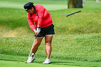 Christina Kim (USA) hits her approach shot on 10 during Thursday's round 1 of the 2017 KPMG Women's PGA Championship, at Olympia Fields Country Club, Olympia Fields, Illinois. 6/29/2017.<br /> Picture: Golffile | Ken Murray<br /> <br /> <br /> All photo usage must carry mandatory copyright credit (&copy; Golffile | Ken Murray)