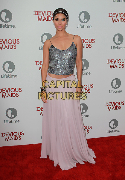 Roselyn Sanchez<br /> Lifetime Original Series &quot;Devious Maids&quot; Premiere Party Held At Bel- Air Bay Club, Pacific Palisades, California, USA.<br /> June 17th, 2013<br /> full length silver top pink skirt headband  <br /> CAP/ADM/KB<br /> &copy;Kevan Brooks/AdMedia/Capital Pictures