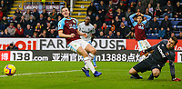 Burnley's Chris Wood can't quite reach the cross from Dwight McNeil<br /> <br /> Photographer Alex Dodd/CameraSport<br /> <br /> The Premier League - Burnley v West Ham United - Sunday 30th December 2018 - Turf Moor - Burnley<br /> <br /> World Copyright © 2018 CameraSport. All rights reserved. 43 Linden Ave. Countesthorpe. Leicester. England. LE8 5PG - Tel: +44 (0) 116 277 4147 - admin@camerasport.com - www.camerasport.com