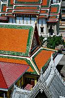 Overhead view of Wat Suan Plu, Bangkok, Thailand.