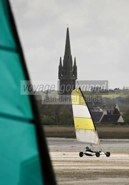 Europe/France/Bretagne/29/Finistère/Plounéour-Trez: Initiation au char à voile avec: Rêves de Mer