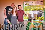 Mary Ellen Creedon and Noel Moynihan, Kerry footballer Aidan O'Mahony and the Sam Maguire.