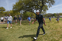 Hideki Matsuyama (JPN) heads for the 7th tee during round 1 of the World Golf Championships, Dell Match Play, Austin Country Club, Austin, Texas. 3/21/2018.<br /> Picture: Golffile | Ken Murray<br /> <br /> <br /> All photo usage must carry mandatory copyright credit (&copy; Golffile | Ken Murray)
