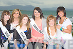 QUEENS: Young ladies who will be going for the title of The Queen of the Ballyheigue Festival on Monday evening. l-r: Letita O'Regan (Londis Supermarket), Eva Barry (Marian Park), Joanne O'Connor (Brassils Chemist), Orla Fitzgerald ( Healy's Costcutters), Laura Horgan (Tides) and Clarissa O'Sullivan (Doon). missing was Frieda Leahy (Whitesands Hotel)...