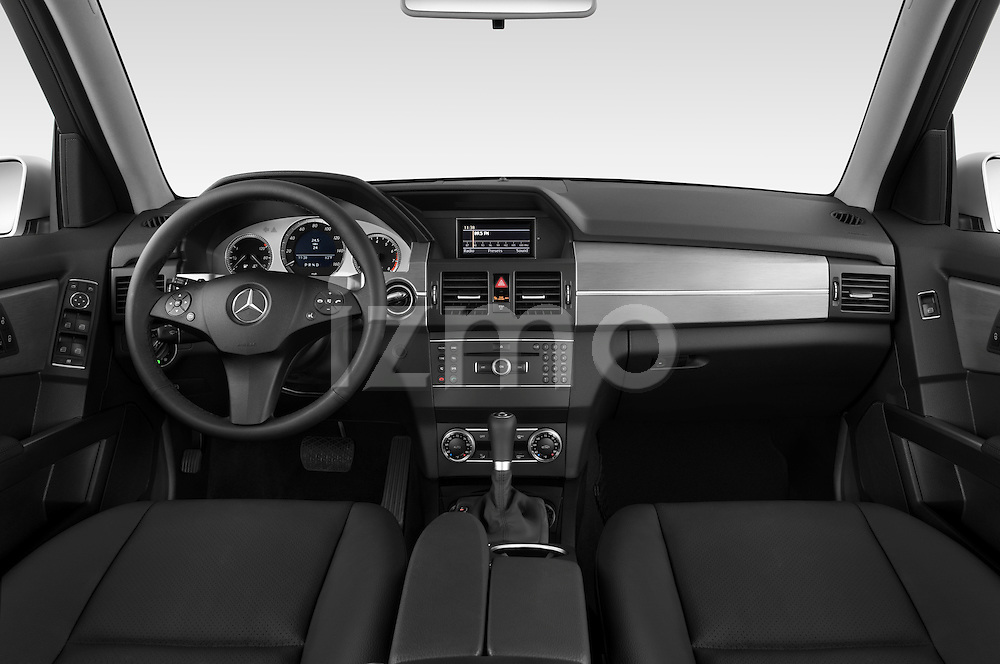 Straight dashboard view of a 2010 Mercedes GLK Class 350.