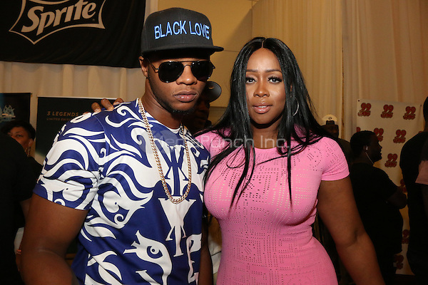 LOS ANGELES, CA - JUNE 26, 2016 Papoose & Remy Ma the BET Awards Remote Radio Room at The JW Marriot in Los Angeles, CA. Photo Credit: Walik Goshorn / Media Punch