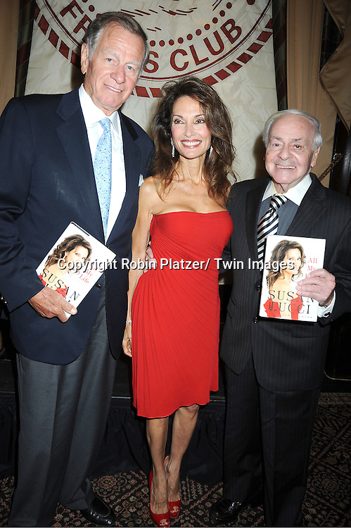 "Helmet Huber and Susan Lucci and Irv  at her book signing for her new book ""All My Life""  at The Friars Club in New York City on September 7, 2011."
