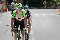 Simon Clarke (AUS/Cannondale-Drapac) &amp; Michal Kwiatkowski (POL/SKY) riding ahead of the peloton<br /> <br /> 69th Crit&eacute;rium du Dauphin&eacute; 2017<br /> Stage 8: Albertville &gt; Plateau de Solaison (115km)