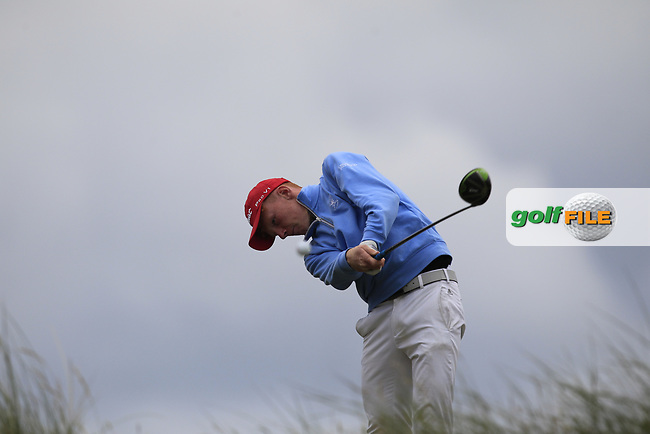John Murphy (Kinsale) chipping onto the 16th tee during Round 4 of the East of Ireland Amateur Open Championship at Co. Louth Golf Club in Baltray on Monday 5th June 2017.<br /> Photo: Golffile / Thos Caffrey.<br /> <br /> All photo usage must carry mandatory copyright credit     (&copy; Golffile | Thos Caffrey)