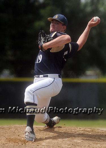 (060615 Bridgewater) Williams starting pitcher Ryan Earle, in the first inning against West Bridgewater, Saturday, June 6, 2015, in Bridgewater. Herald Photo by Jim Michaud