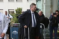 DFB-Präsident Reinhard Grindel begleitet die Delegation - 04.10.2017: Deutschland Teamankunft, Stormont Hotel Belfast