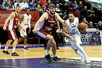 GRONINGEN - Donar - KK Bosna, Martiniplaza, Europe Cup, seizoen 2017-2018, 15-11-2017,  Donar speler Brandyn Curry in duel met KK Bosna speler Maksim Sturanovic