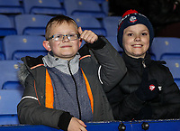Bolton Wanderers' supporters enjoying the pre-match atmosphere<br /> <br /> Photographer Andrew Kearns/CameraSport<br /> <br /> The EFL Sky Bet Championship - Bolton Wanderers v Sheffield Wednesday - Tuesday 12th March 2019 - University of Bolton Stadium - Bolton<br /> <br /> World Copyright © 2019 CameraSport. All rights reserved. 43 Linden Ave. Countesthorpe. Leicester. England. LE8 5PG - Tel: +44 (0) 116 277 4147 - admin@camerasport.com - www.camerasport.com