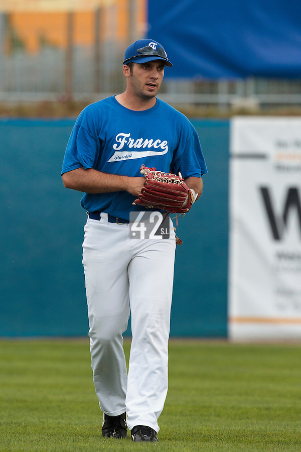 26 july 2010: Gaspard Fessy of France is seen prior to France 10-2 victory over Ukraine, in day 4 of the 2010 European Championship Seniors, in Neuenburg, Germany.