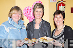 Eileen O'Neill, Kathleen Rice and Colette Courtney Beaufort selling treats at the cake sale in aid of the Irish Pilgrimage Trust in Beaufort Community Centre on Sunday..