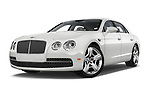 Stock pictures of low aggressive front three quarter view of 2016 Bentley Continental   Flying Spur 4 Door Sedan