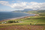 Looking north towards Machrie on the Isle of Arran, Scotland