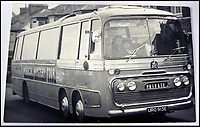 BNPS.co.uk (01202 558833)<br /> Pic: Hansons/BNPS<br /> <br /> The Magical Mystery Tour bus.<br /> <br /> Fascinating never before seen photographs of the Beatles during their Magical Mystery Tour have been unearthed after 50 years.<br /> <br /> The intimate snaps of the Fab Four were taken by a Beatles fan who was on holiday with his family at the Cornish seaside resort of Newquay at the time.<br /> <br /> The Beatles were in the town to record scenes for their Magical Mystery Tour film which was broadcast on Boxing Day 1967.<br /> <br /> Interestingly, the fan managed to capture the foursome in a private moment when they were not being mobbed by crowds of adoring fans.<br /> <br /> The images and their copyright have now emerged for auction and are tipped to sell for &pound;800.<br /> <br /> The vendor, who was in his late 20s at the time, snapped the Beatles entering The Atlantic Hotel in Newquay in September 1967.